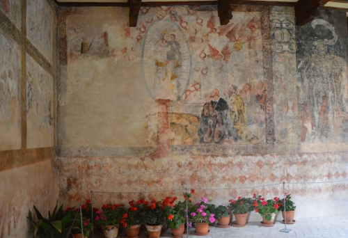 Castillo Colegiata de Santa María Alquezar frescos