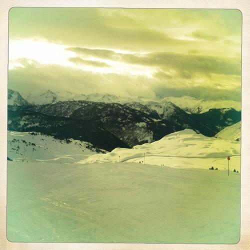 Baqueira vistas desde pistas nevadas