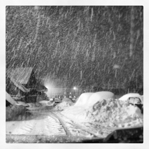 Camino Unha a Salardu nevando