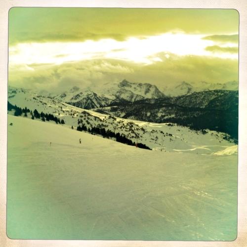 Montañas nevadas Baqueira