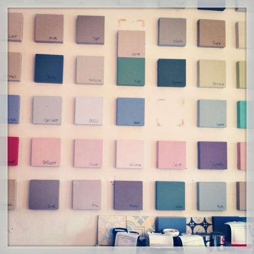 MC pinturas muestras de colores