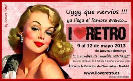 Cartel I Love Retro 2013