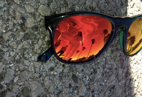 mr Boho gafas de espejo rojo