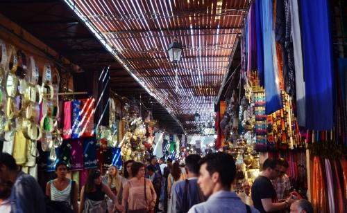 Zoco Marrakech calle de tiendas
