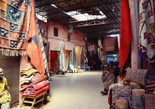 Zoco Marrakech tiendas de alfombras