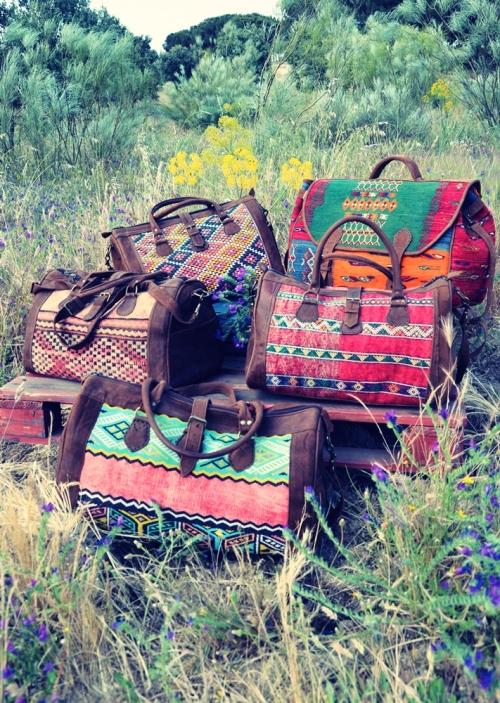 Bolsas de viaje de kilim de El Mercado de la Vida en el campo 1