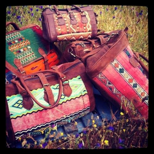 Bolsas de viaje Tuareg de kilim El Mercado de la Vida