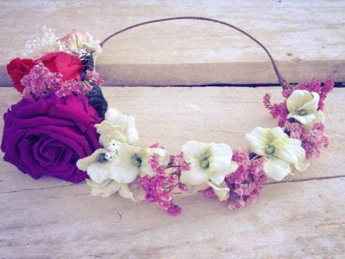 Corona Hip&Love orquideas y rosas