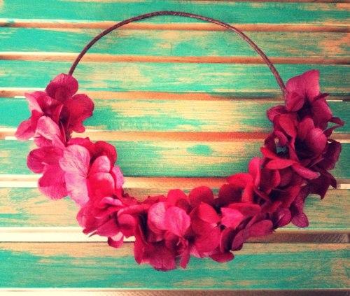 Hip&Love corona de hortensias