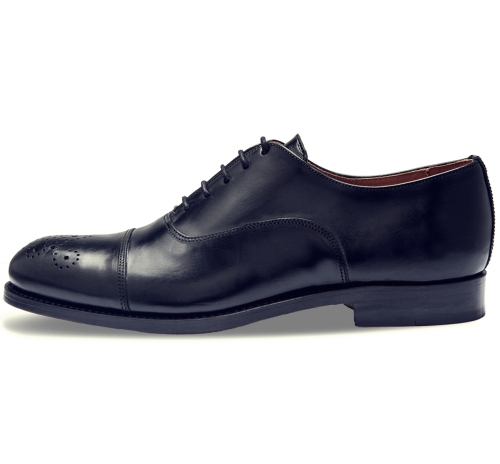 Oxford semi brogue negro side Ebay