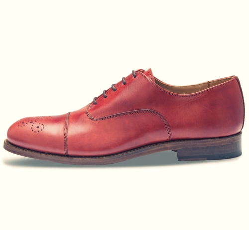 Oxford semibrogue rojo side Ebay