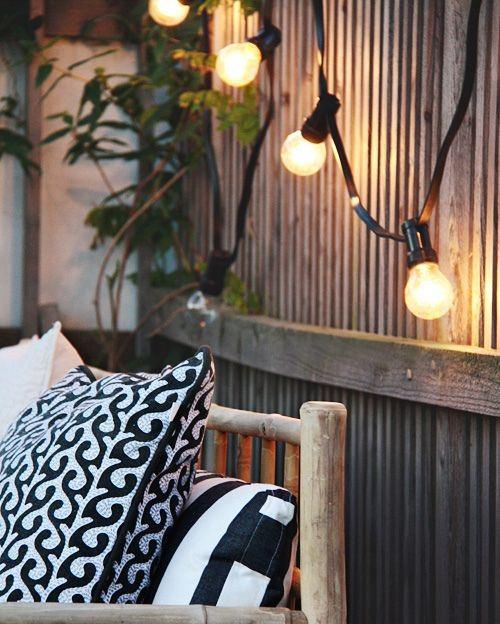 guirnaldas de bombillas jardín r