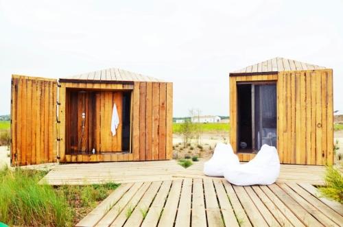Cabanas no Rio Comporta ducha