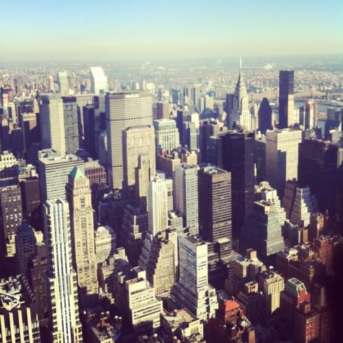 Nueva York vistas desde Empire State al norte