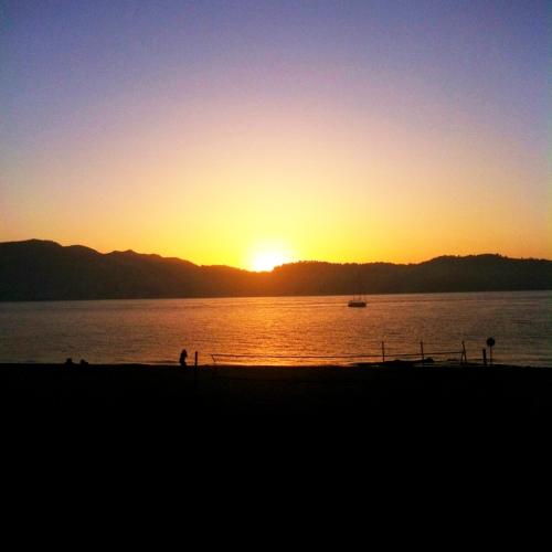 Puesta de sol desde Troya