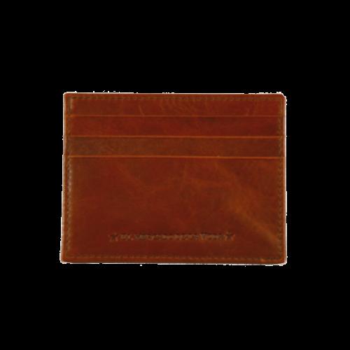 Tarjetero EMV piel marrón silueteado 2 El Mercado de la Vida