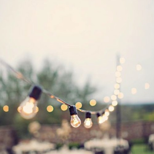 Guirnalda bombillas exterior El Mercado de la Vida
